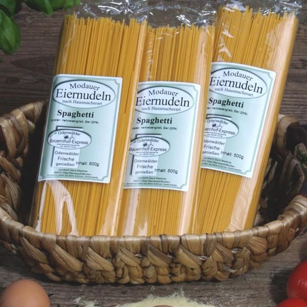 Hausmacher Eiernudeln Spaghetti 3 x 500 g